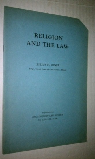 Image for RELIGION AND THE LAW