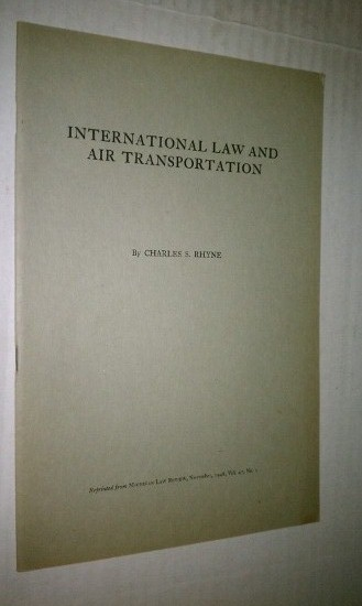 Image for International Law and Air Transportation