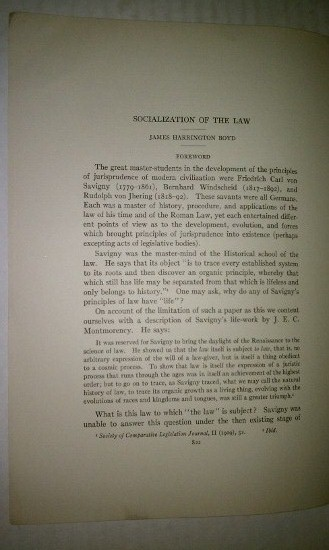 Image for Socialization of the Law