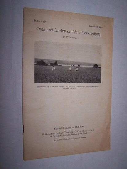 Image for OATS AND BARLEY ON NEW YORK FARMS - BULLETIN 376, SEPTEMBER 1937