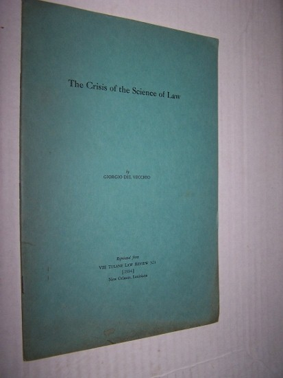 Image for The Crisis of the Science of Law