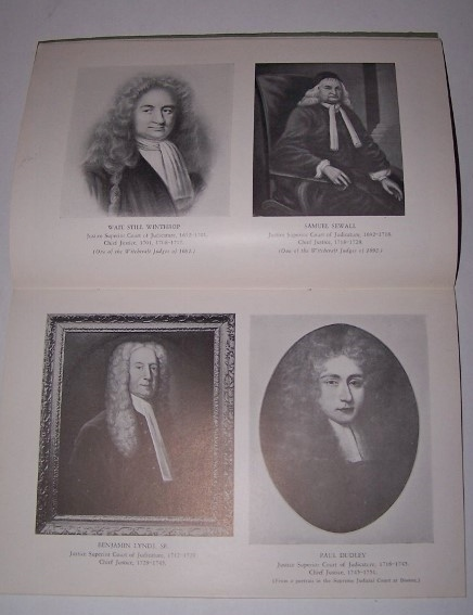 Image for Procession of the Chief Justices of Massachusetts 1692-1937; Portraits of the Chief Justices under the Province Charter 1692-1775 and Chief Justices 1775-1937 Massachusetts Law Quarterly, January 1937, Vol. XXII, No. 1, Supplement No. 2