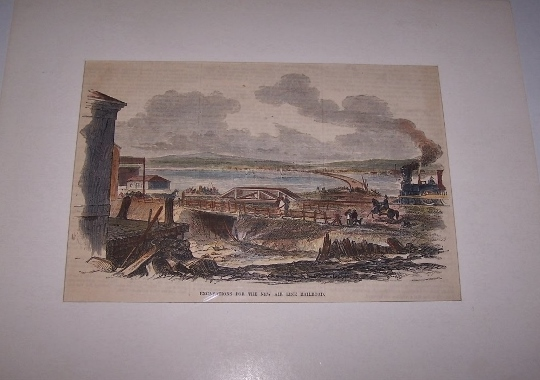 Image for Excavations for the New Air Line Railroad [ Hand-colored wood engraving ]