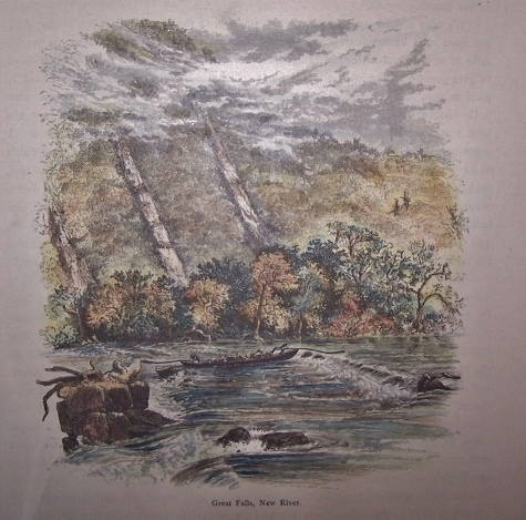 Image for Great Falls, New River  [ Virginia ] [ Hand-colored wood engraving ]