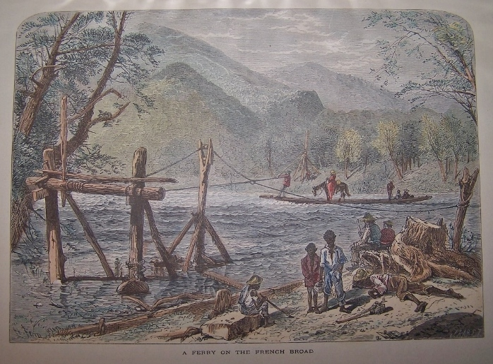 Image for A Ferry on the French Broad [ Hand-colored wood engraving ]