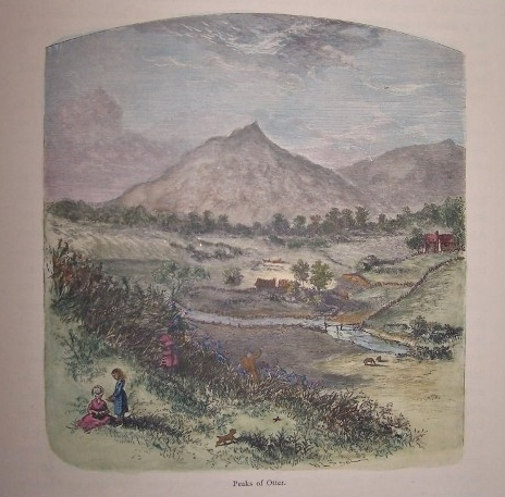 Image for Peaks of Otter  [ Virginia ] [ Hand-colored wood engraving ]