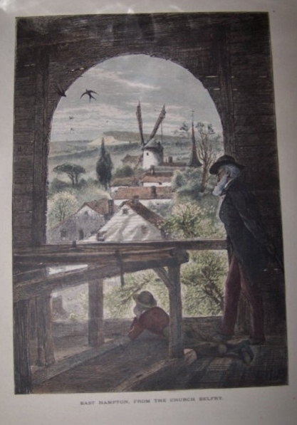 Image for East Hampton, from the Church Belfry [ Hand-colored wood engraving ]