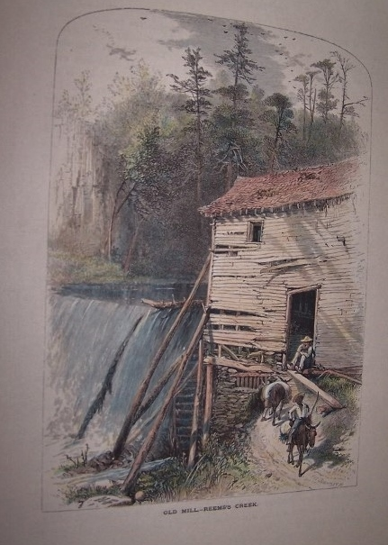 Old Mill - Reems's Creek [ North Carolina ] [ Hand-colored wood engraving ]