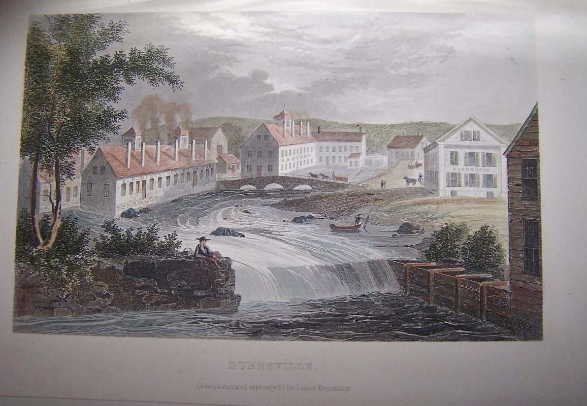 Image for DUNNSVILLE [Wayne, Maine] [ Hand-colored steel engraving ]