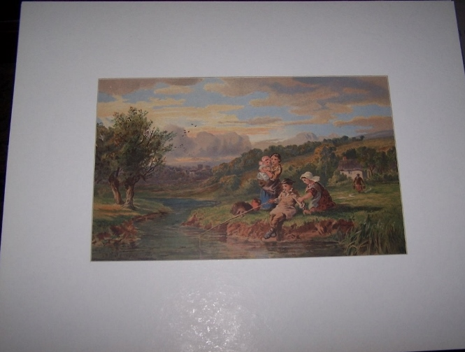 Image for Children Fishing by the Stream