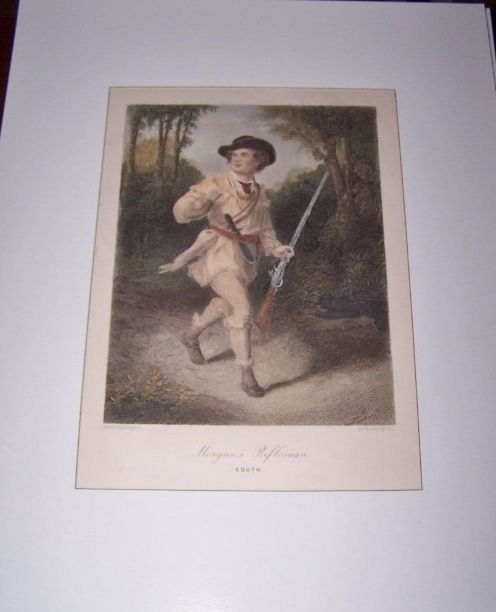 Image for Morgan's Rifleman - South  [ Hand-colored engraving ]