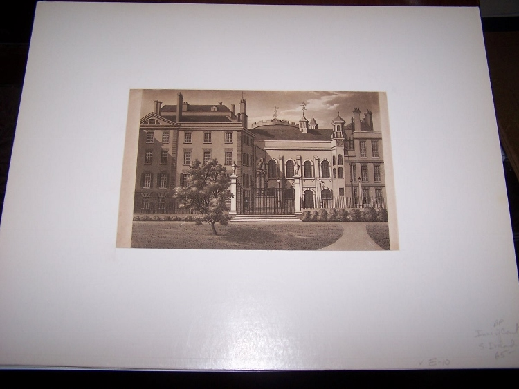 Image for The Middle Temple of the Inns of Court [Sepia Aquatint]