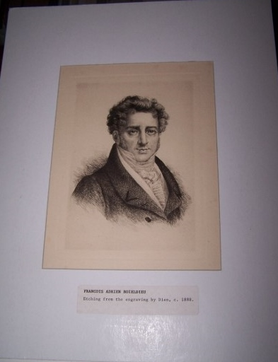 Image for Etched Portrait of Francois Adrien Boieldieu from an Engraving by Dien after a Painting by Riesener