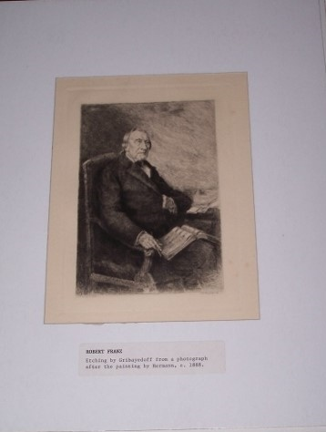 Image for Etched Portrait of Robert Franz from a photograph after the painting by Hermann