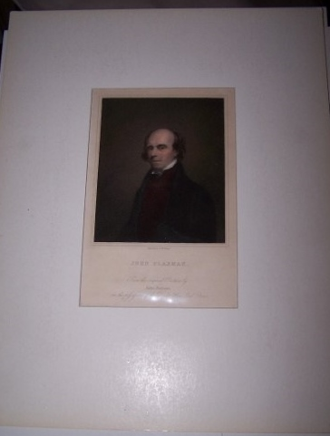 Image for Hand Colored Engraved Portrait of John Flaxman engraved by R. Woodman from the original Picture by John Jackson