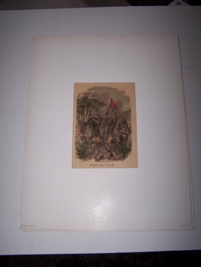 Image for Indian War Dance [ Hand-colored wood engraving ]