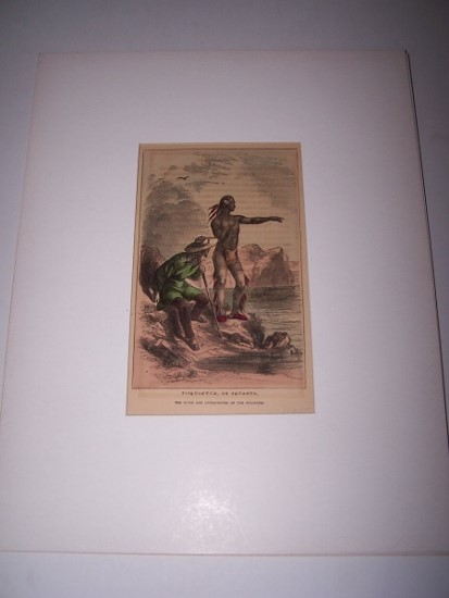 Image for Tisquantum, or Squanto, The Guide and Interpreter of the Colonists [ Hand-colored wood engraving ]