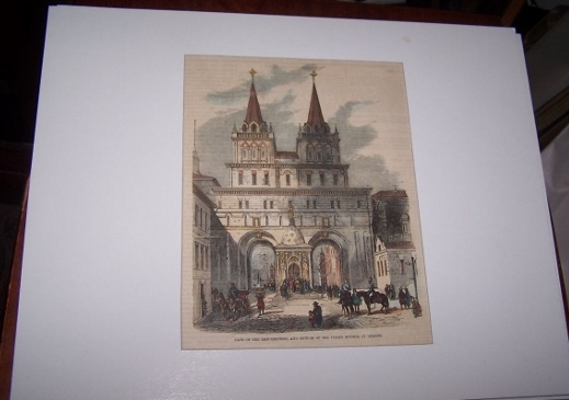 Image for Gate of the Resurrection and a Picture of the Virgin Mother at Moscow [ Hand-colored wood engraving ]