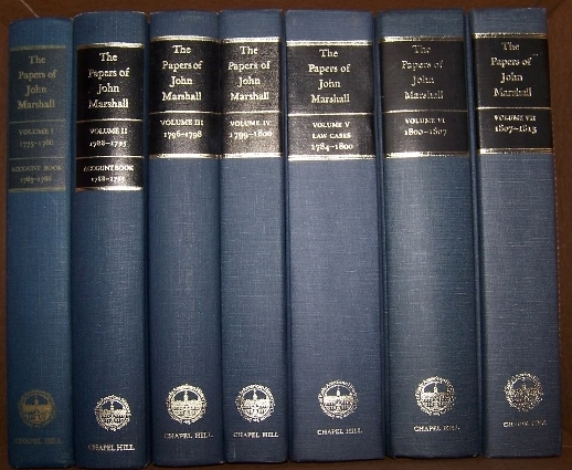 Image for THE PAPERS OF JOHN MARSHALL  1775 - 1813 ,   Volumes I - VII  [Seven Volumes]