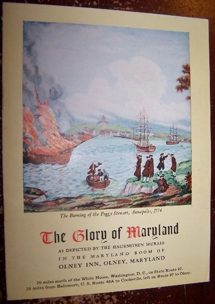Image for The Glory of Maryland as depicted by the Hauenstein Murals in the Maryland Room of Olney Inn, Olney, Maryland