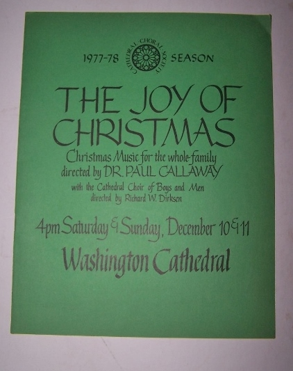 Image for The Joy of Christmas - Christmas Music for the Whole Family 4pm Saturday & Sunday, December 10 & 11 Directed by Dr. Paul Callaway with the Cathedral Choir of Boys and Men directed by Richard W. Dirksen